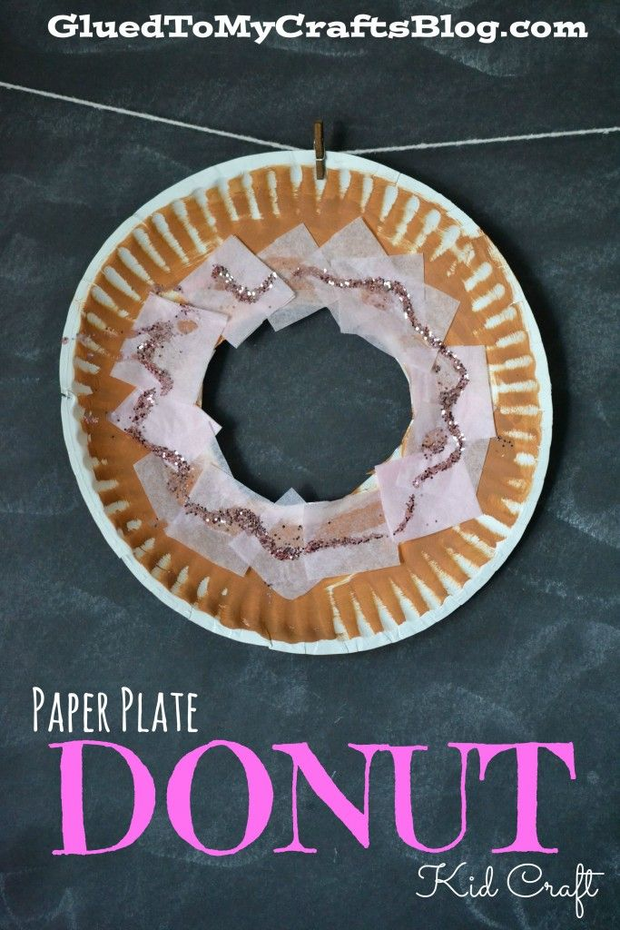 Paper Plate Donut Kid Craft & Paper Plate Donut Kid Craft | Doughnut Crafts and Paper plate crafts
