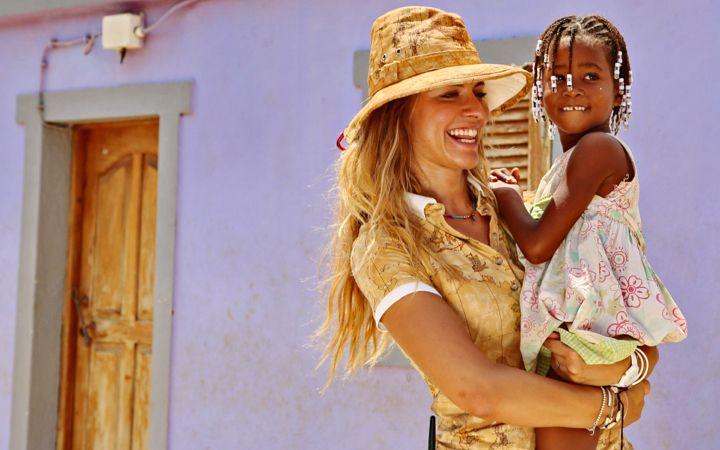Michela e una bimba capoverdiana