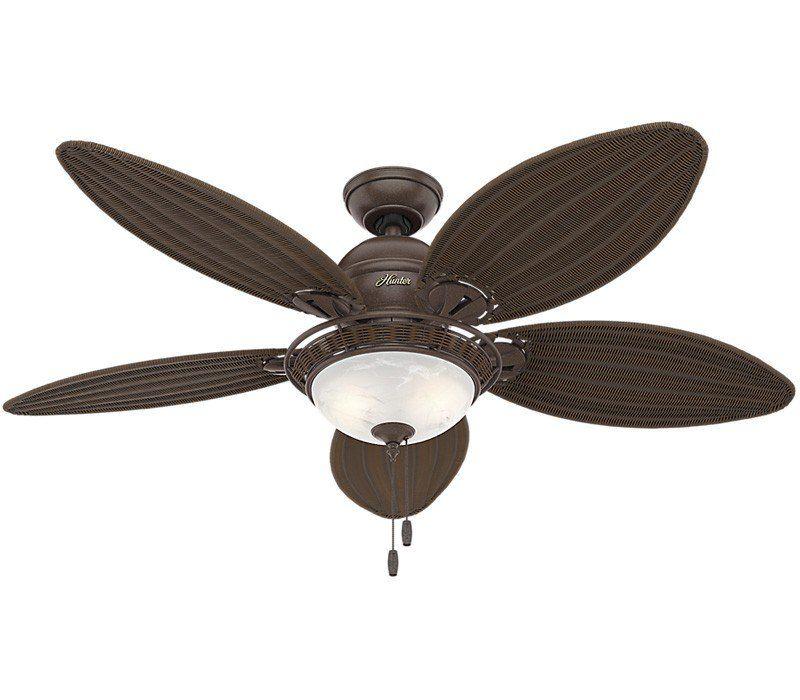 Hunter 54095 Caribbean Breeze 54 Inch Weathered Bronze Ceiling Fan Bronze Ceiling Fan Ceiling Fan With Light Ceiling Fan