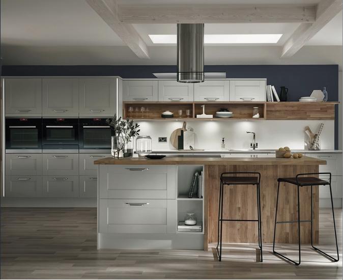 Kitchens Grey shaker kitchen, Howdens kitchens, Stylish