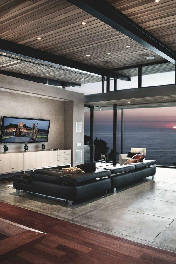 Schlichte Beleuchtung Im Luxus Wohnzimmer  Interessantes Design   10 Deko Ideen  Für Die Wohnung