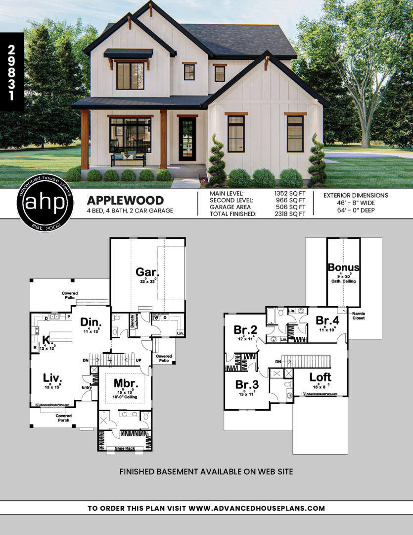 1 5 Story Modern Farmhouse Style House Plan Applewood Farmhouse Style House Modern Farmhouse Plans Farmhouse Style House Plans