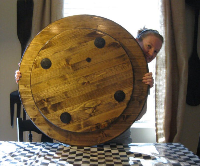 Large Wood Lazy Susan For Dining Table Yes We Ship To Canada Uk And International Lazy Susan Table Diy Lazy Susan Farmhouse Table Centerpieces