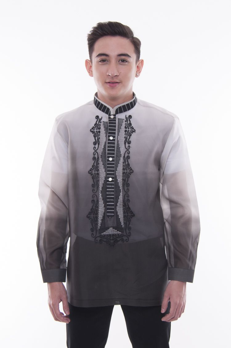 made to order jusi monochromatic double collar black barong tagalog 002 barong tagalog barong filipino clothes barong tagalog