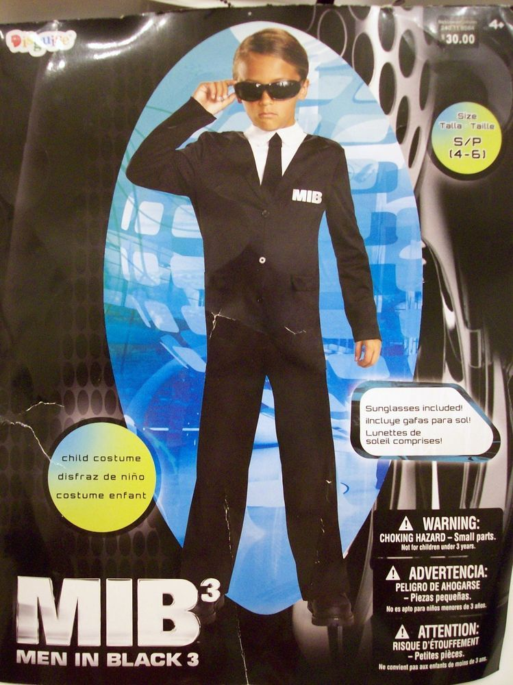 Kids Childs Men In Black 3 Halloween Costume Mib W