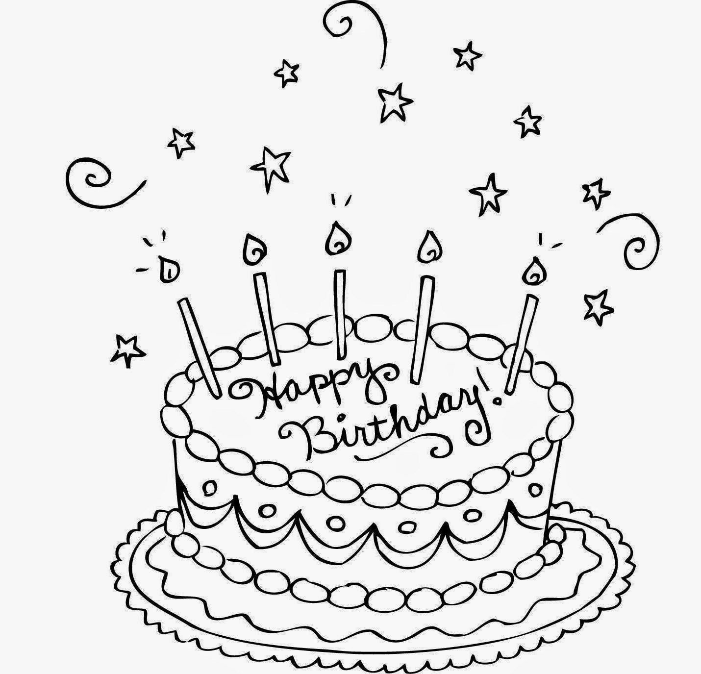 Admirable 32 Awesome Image Of Birthday Cake Drawing Cake Drawing Personalised Birthday Cards Veneteletsinfo