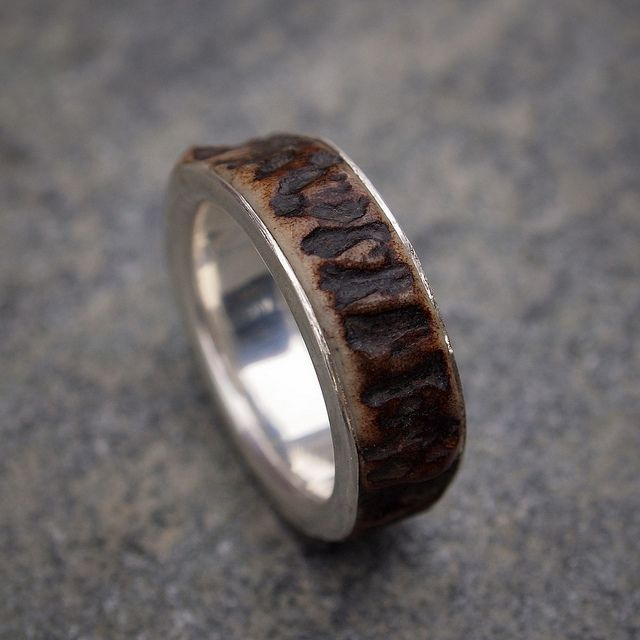 Deer Antler Ring | Wedding | Deer antler ring, Antler ring