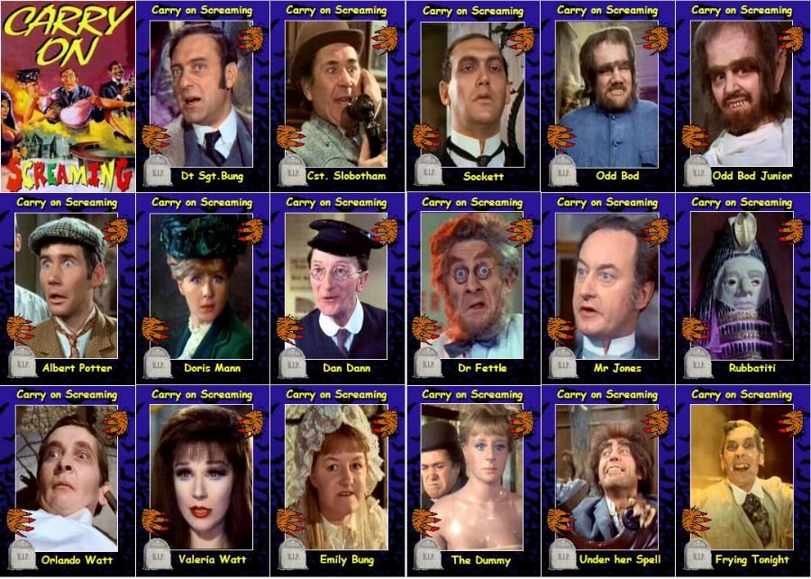 Carry on Loving movie trading cards