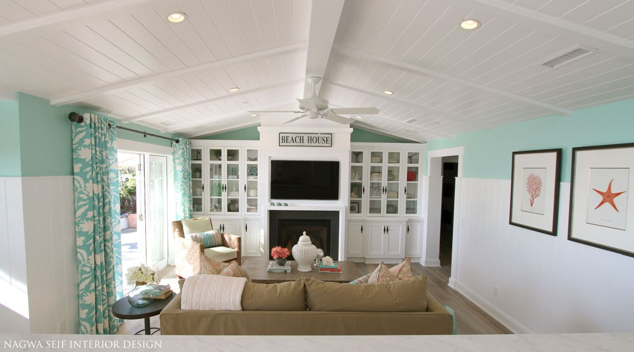 Coral And Aqua Living Room Future Home Stuff Pinterest