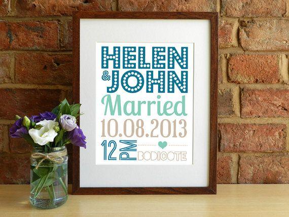 Personalised Wedding Keepsake Print by SmartCreative, £14.00