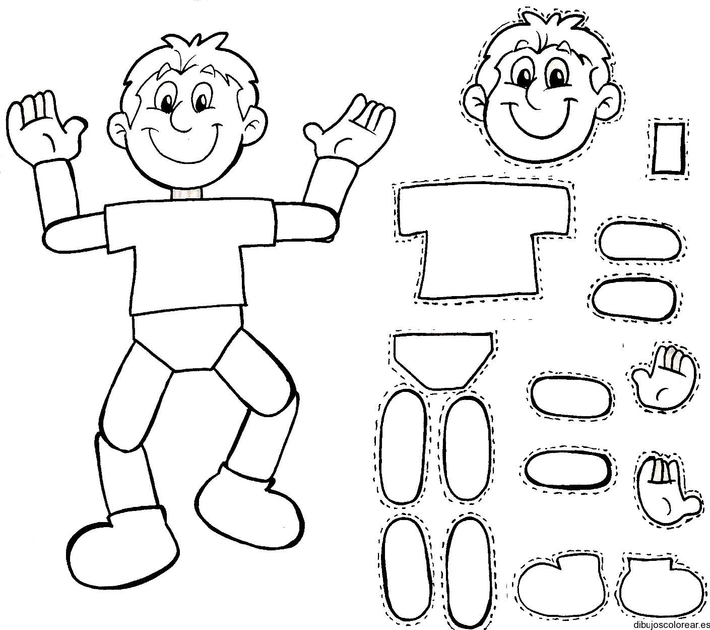 Dibujos para Colorear   abecedario   Pinterest   Cuerpo humano niños ...