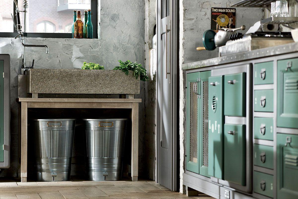 Marchi Group - Loft Cucina vintage - Cucina componibile - frigo ...