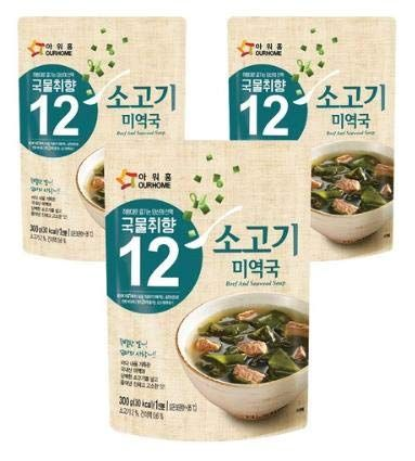 Ourhome Korean beef Seaweed Soup, Miyeok-Guk, Ready-to-Eat