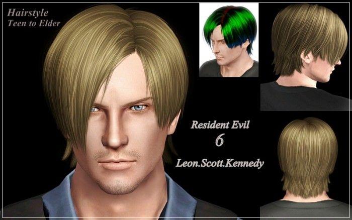 Resident Evil6 Leon Scott Kennedy Hair By Bucket Sims 4 Hair