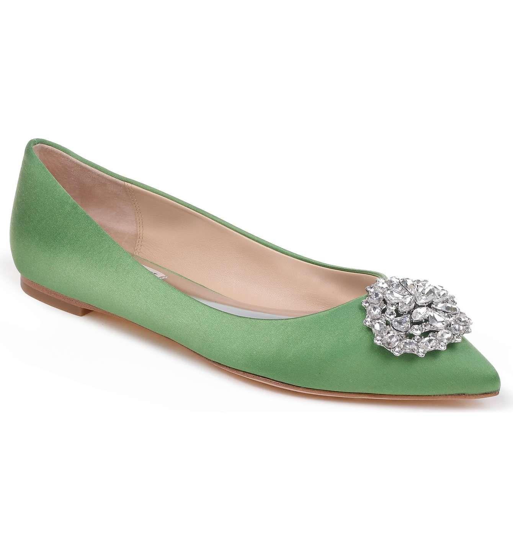 Badgley Mischka Women's 'Davis' Crystal Embellished Pointy Toe Flat GQz4ts