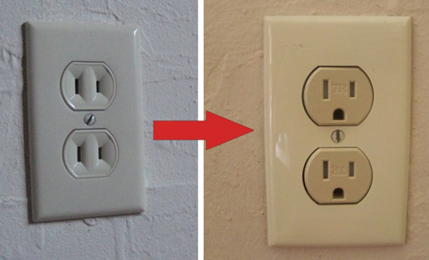 How To Swap A Two Prong For A Three Prong Outlet Diy Home Improvement Diy Home Repair Home Improvement Projects