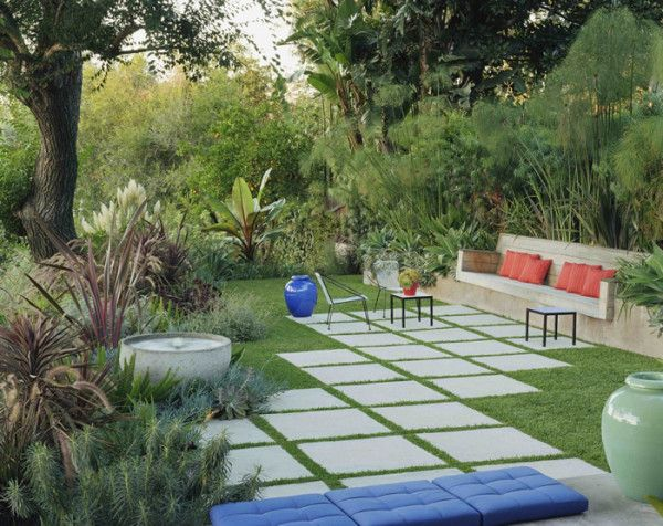 Landscape Design Ideas Modern Garden Water Features is part of Modern garden Seating - Gardening is a commitment  All those plants, flowers, and veggies to tend to  Instead, create a modern garden with a zenlike water feature for relaxation