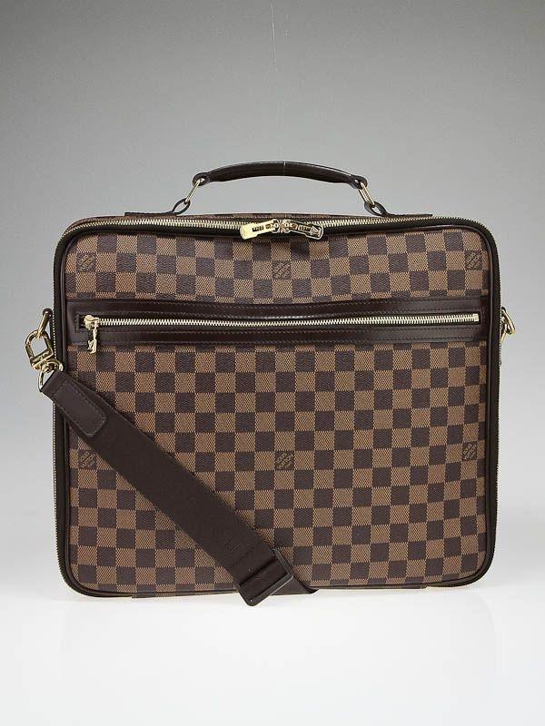 45d1d05932c Louis Vuitton Damier Canvas Porte Ordinateur Sabana Computer Case Bag