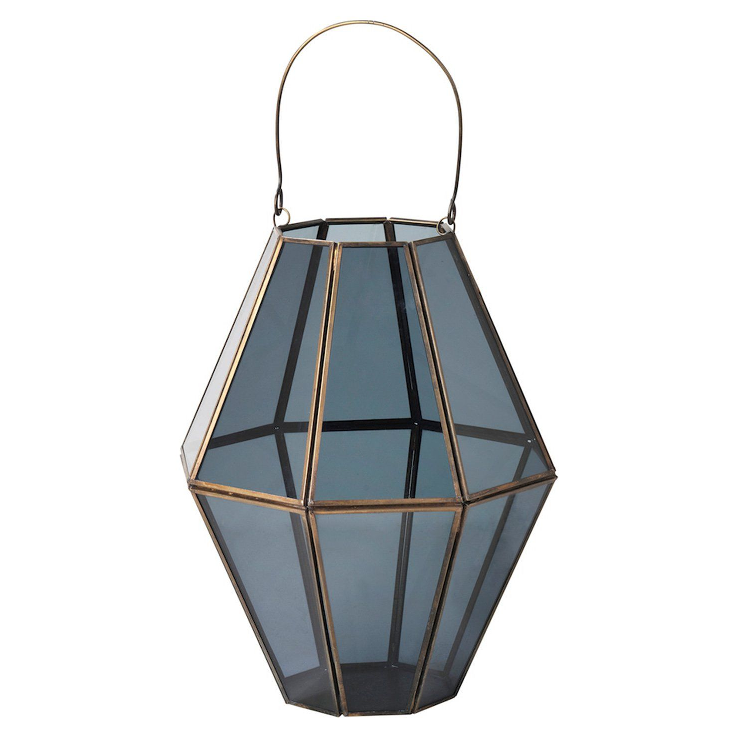 Caprio Tall Smoked Glass Lantern Achica