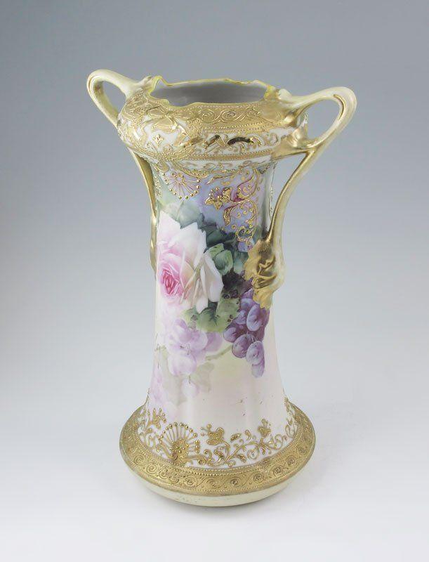 142 Hand Painted Nippon Porcelain Vase On Pinterest Porcelain