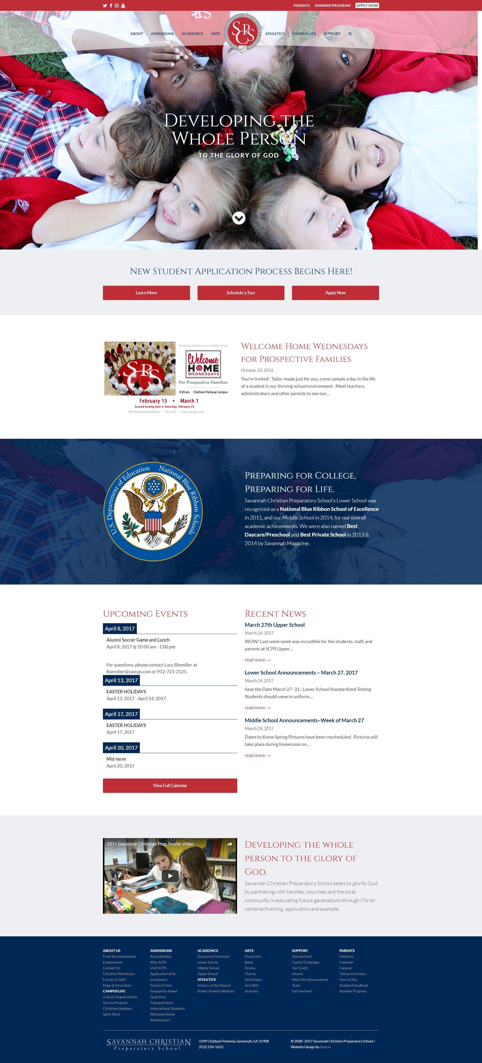 Savannah Christian Preparatory School Website Design In 2020 Website Template Design Portfolio Website Design Online Web Design