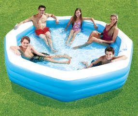 Summer Waves 10 Octagonal Inflatable Family Pool Big Lots Inflatable Pool Inflatable Swimming Pool Kiddie Pool