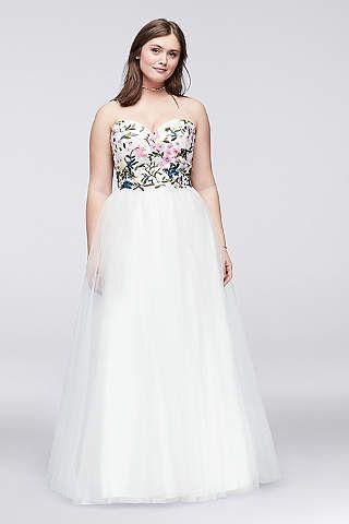 Plus Size Prom Dresses & Gowns for 2017 | David\'s Bridal | Plus Size ...