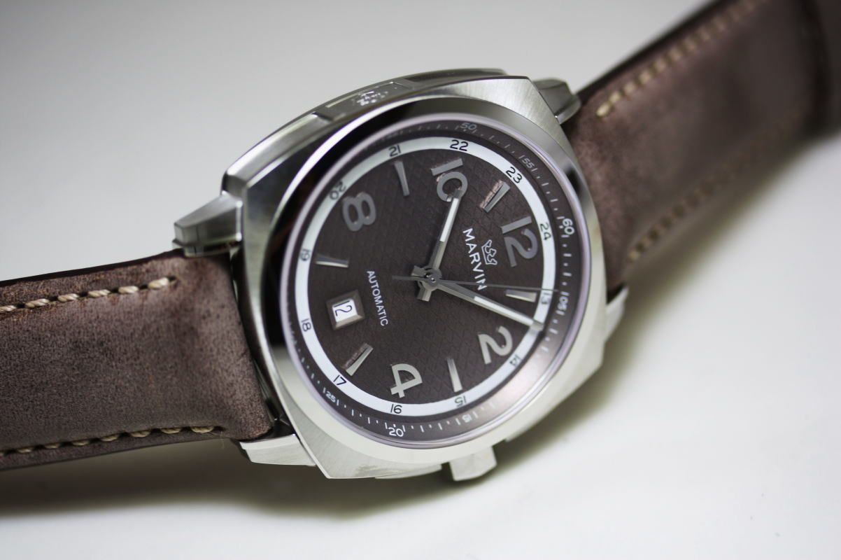 MARVINMALTON 160 cushion case automatic winding watch