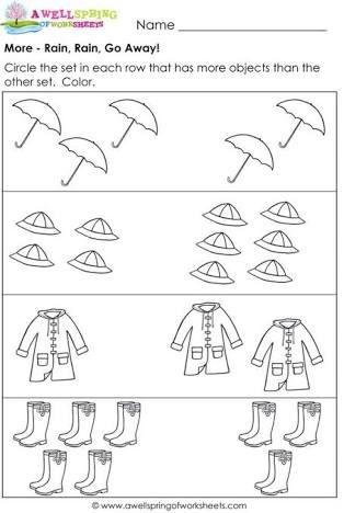 Resultado De Imagen Para More Or Less Worksheets Kindergarten Math