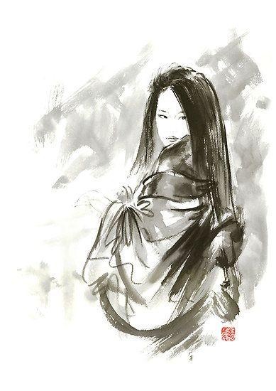 Asian Women Face Painting Geisha Japanese Woman Beauty Maiko