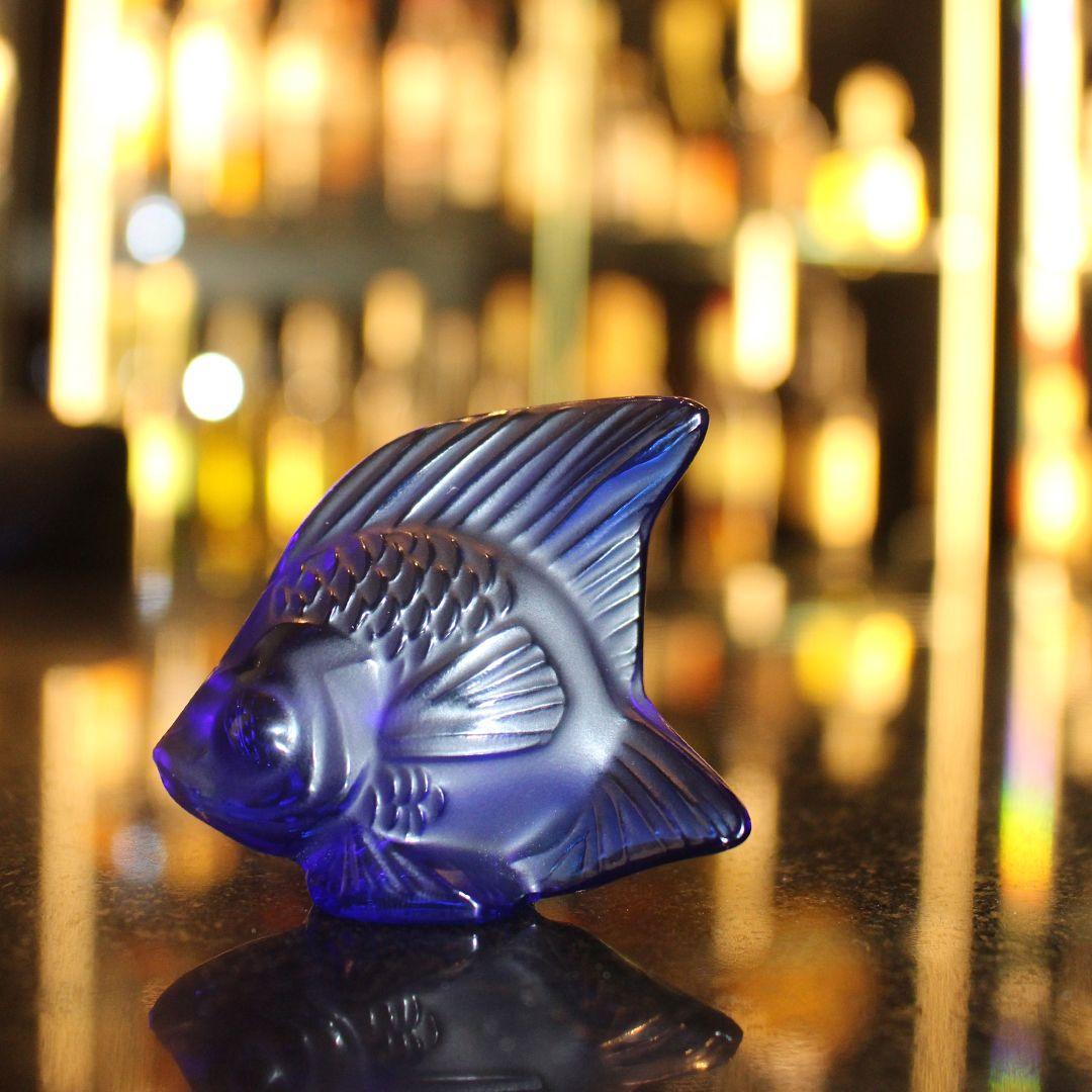 Lalique Crystal Fish Sculpture Figurines Decoración De Cristal Jarrón Escultura