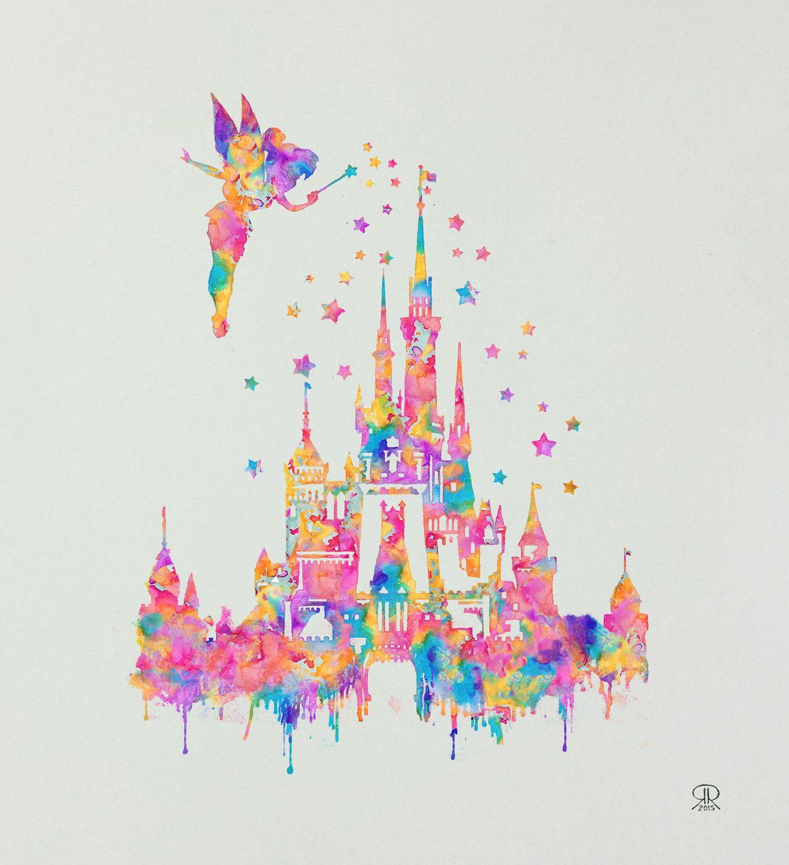 9x10 Inch Disney Castle Print by Ronald Restituyo by