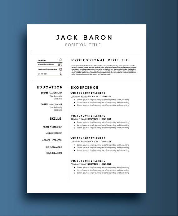 Cv Design Curriculum Vitae Template Creative Resume Template