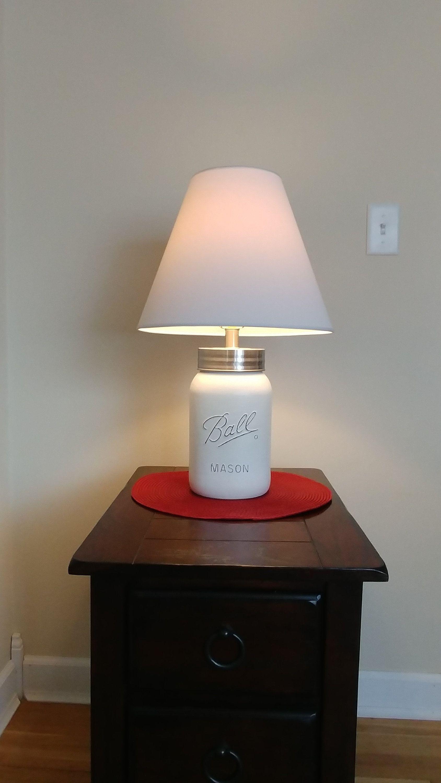 Mason Jar Lamp Gallon Mason Jar Lighting Rustic Lamp Farm House Lamp Home Decor Mason Jar Lighting Table Lamp Nightstand Lamp Mason Jar Rustic Nightstand Diy Beauty Room Diy Makeup Decor