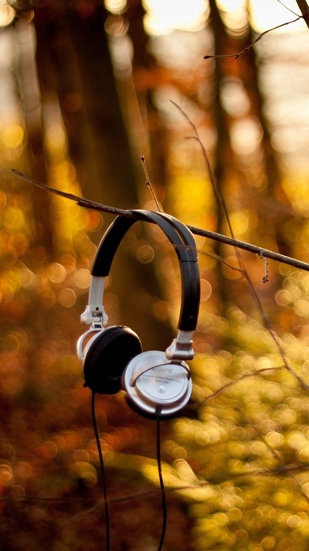 Headphones On Branch iPhone 6 wallpaper Wallpaper