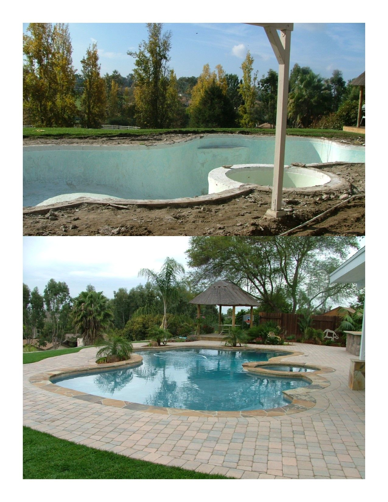 Complete backyard makeover! The old plaster pool was ...