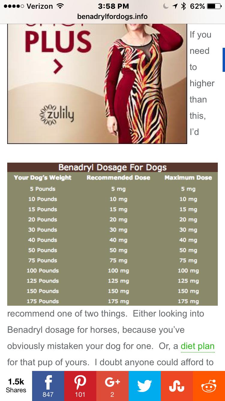 Pin by Diane Rogers on Pet stuff Benadryl dosage, 20