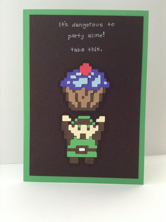 Link Zelda Inspired Birthday Card C A B Pinterest Cards