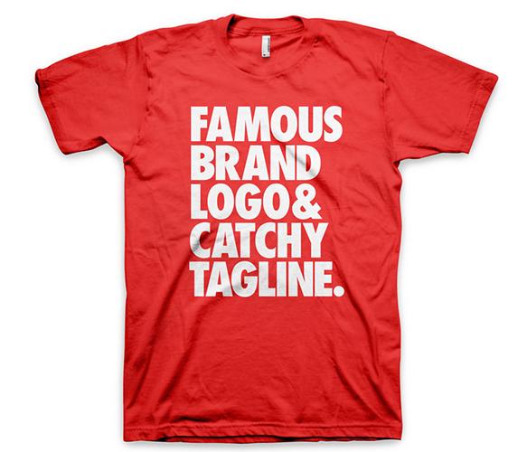 Guardaroba Marchio Abbigliamento.Famous Brand Tee Promo T Shirt Creativo
