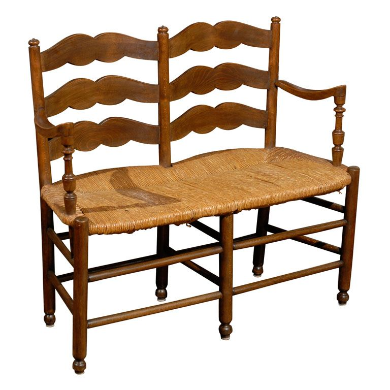Incredible French Rush Seat Bench 20Th C Furniture Design Mostly Lamtechconsult Wood Chair Design Ideas Lamtechconsultcom