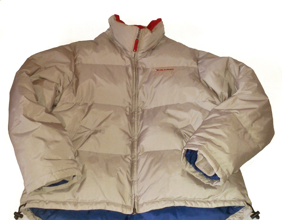 Vintage 90s Tommy Hilfiger Goose Down Puffer Jacket Beige Size M Beige Puffer Beige Puffer Jacket Tommy Hilfiger [ 935 x 1200 Pixel ]