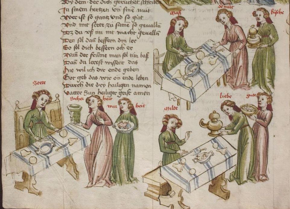 Thomasin <Circlaere>   Welscher Gast (a) Schwaben, um 1460-1470 Cod. Pal. germ. 320 Folio 101v