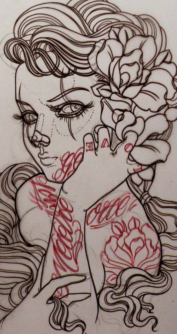 Emerald City Rider: Another great tattooer from Australia. Emily Rose... | Tattos | Dibujos de ...