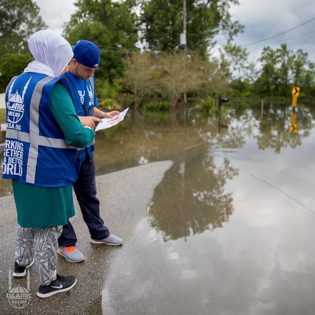 Abdullah Shawky And Arige El Naser Work To Assess The Damage During The Historic Floods In Louisiana In August 201 Islamic Relief Disaster Response Disasters