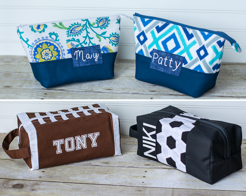 Lots Of Pouches Over On The Blog 2 Boxy Toiletry Bags Football And
