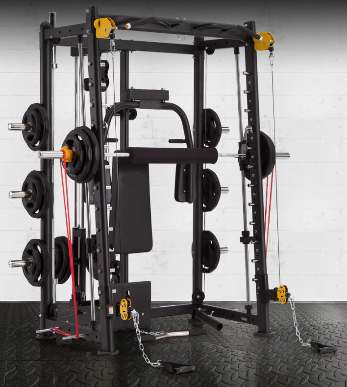 Bk e light commercial smith machine all in one gym crypted