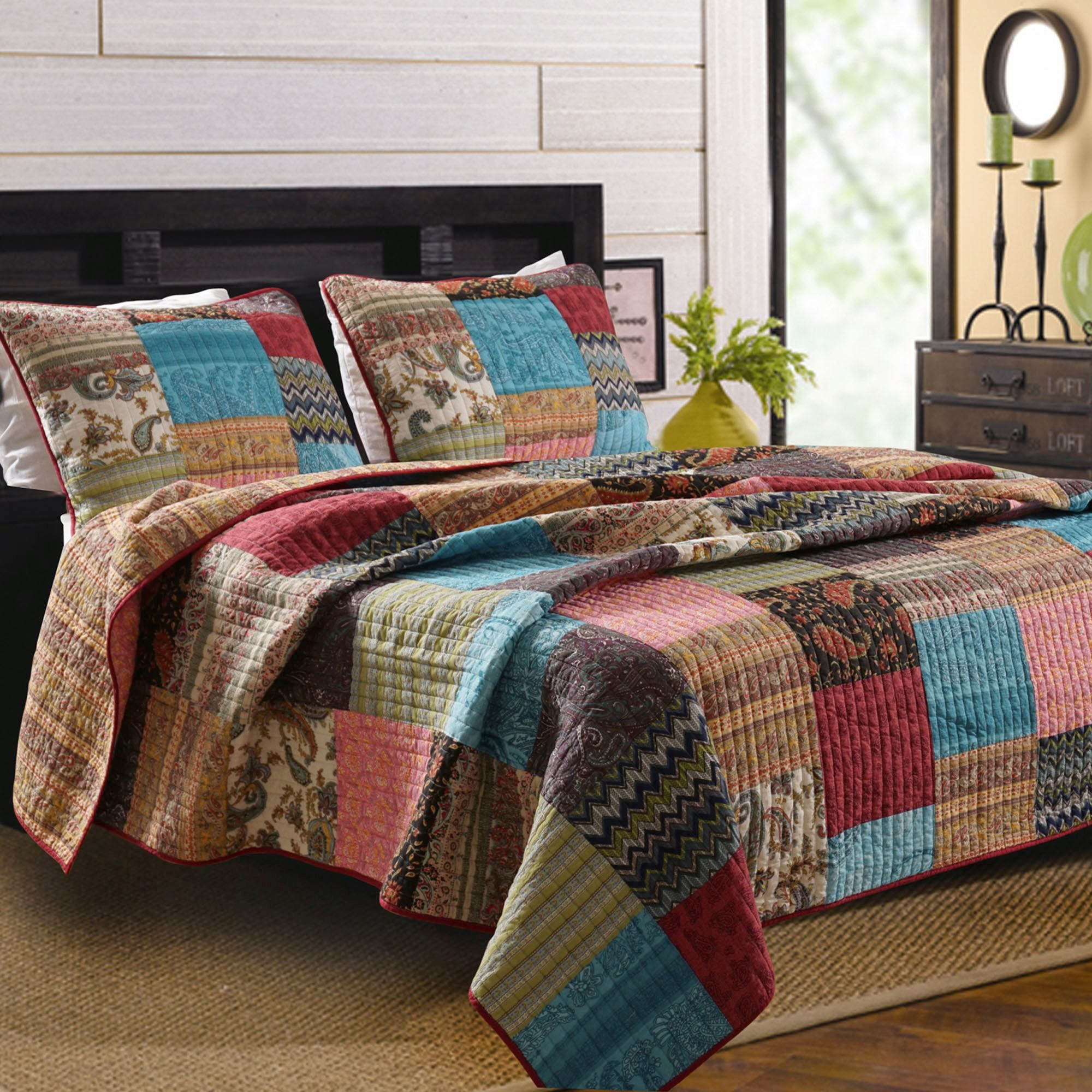 multi quilt warm new big pinterest bold pin bohemian quilts set