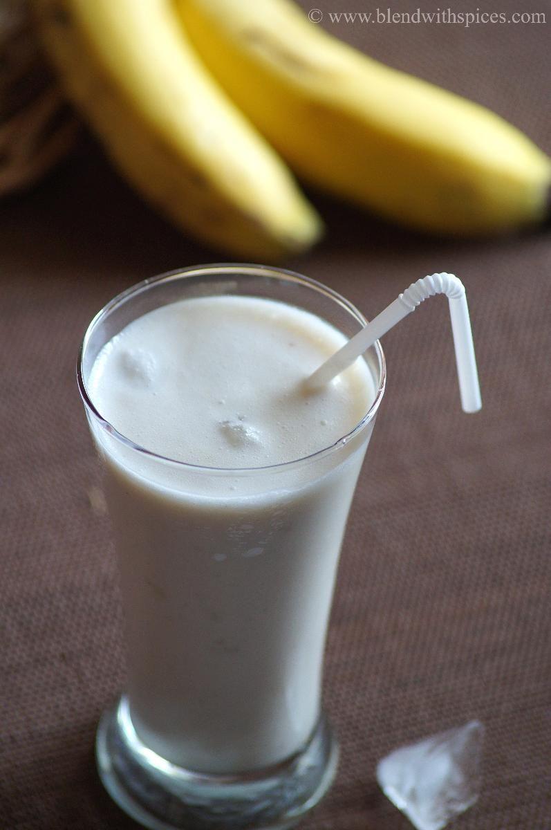 Banana Lassi Recipe How To Make Banana Lassi Indian Yogurt Drink Indian Cuisine Comida Hindu Comida Cocinas