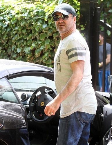 Image detail for -George Michael in a Ferrari 599 | Celebrity Cars Blog