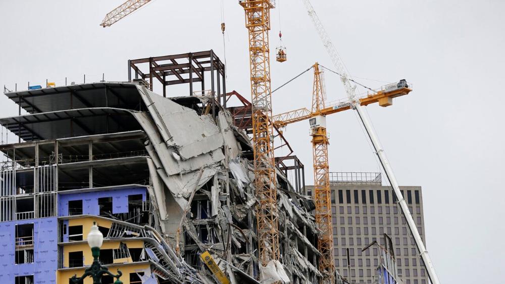 New Orleans Hard Rock Hotel Dead Construction Worker S Legs Seen